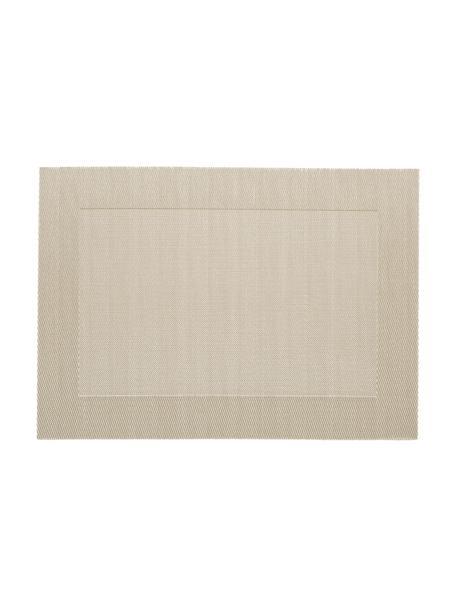 Kunststof Placemats Modern, 2 stuks, Kunststof Vlekken verwijderen met behulp van een vochtige doek., Beige, Crèmekleurig, 33 x 46 cm