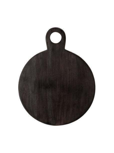 Tagliere in legno di acacia Hola, Legno di acacia rivestito, Nero, Larg. 36 x Prof. 46 cm