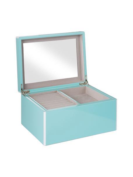 Joyero Taylor con espejo, Azul claro, An 26 x Al 13 cm