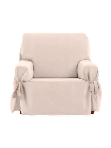 Funda de sillón Levante, 50%algodón, 50%poliéster, Beige, An 120 x Al 110 cm