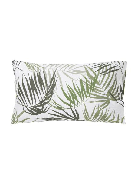 Fundas de almohada Aires, 2uds., Algodón, Blanco, tonos verdes, An 50 x L 80 cm