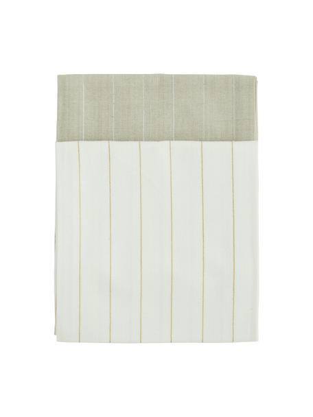 Strofinaccio in cotone con linee color argento e oro 4 pz, 100% cotone, filo lurex, Beige, crema, Larg. 50 x Lung. 70 cm