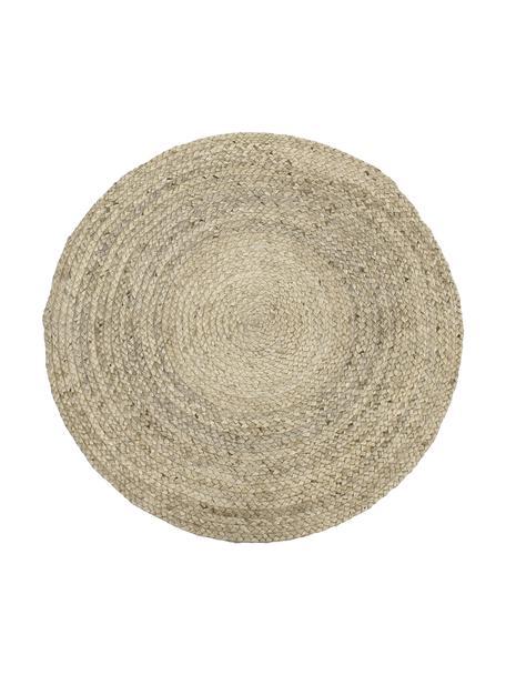Rond handgemaakt juten vloerkleed Sharmila, Beige, Ø 100 cm (maat XS)