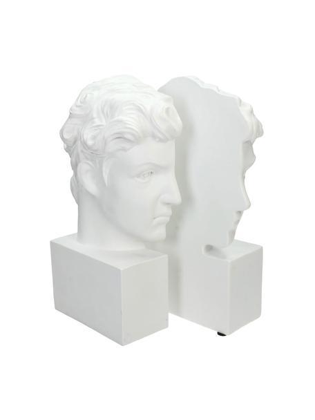 Buchstützen David, 2 Stück, Polyresin, Weiss, 15 x 26 cm