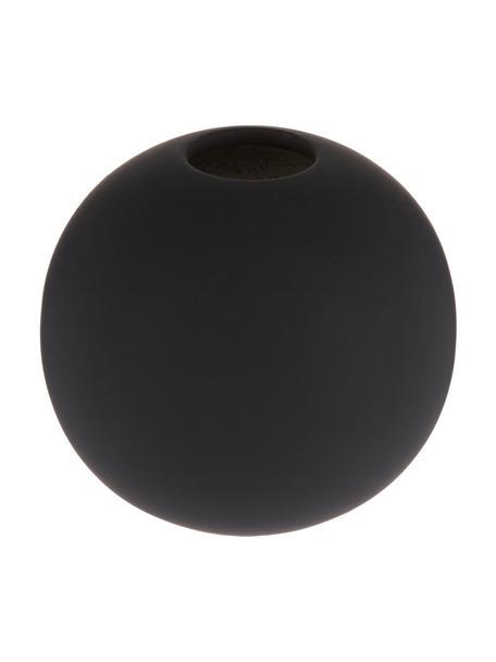 Handgefertigte Kugel-Vase Ball, Keramik, Schwarz, Ø 8 x H 8 cm