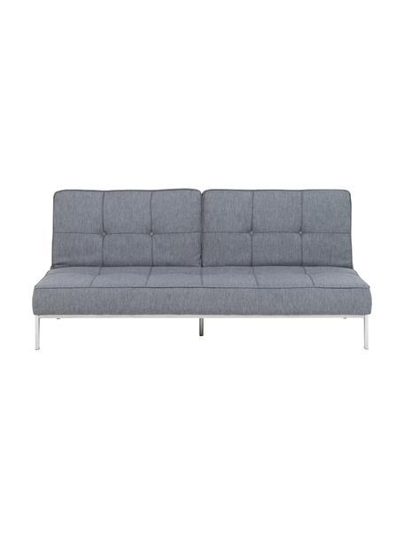 Schlafsofa Perugia in Grau mit Metall-Füßen, ausklappbar, Bezug: Polyester Der hochwertige, Füße: Metall, lackiert, Hellgrau, B 198 x T 95 cm
