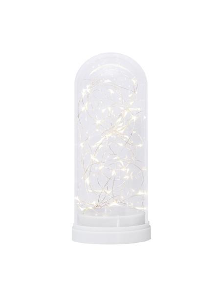 LED Leuchtobjekt Dome, batteriebetrieben, Kunststoff, Glas, Weiß, Transparent, Ø 11 x H 25 cm
