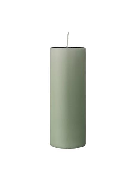 Vela pilar Lulu, Cera, Verde claro, Ø 7 x Al 20 cm