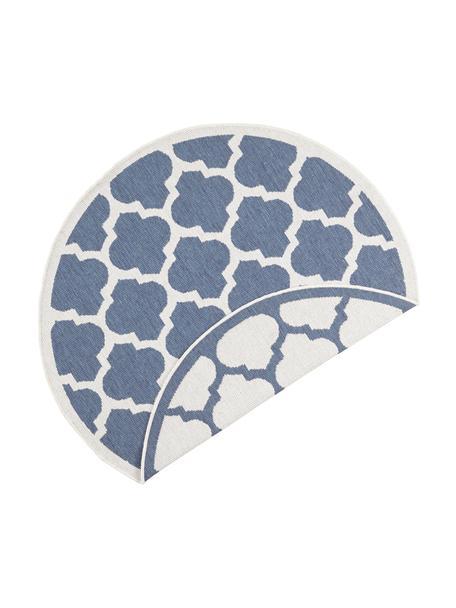 Tappeto rotondo da interno-esterno Palermo, Blu, crema, Ø 140 cm (taglia M)