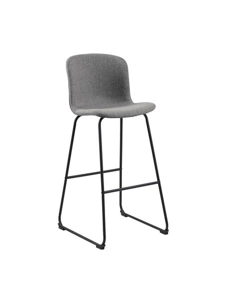 Krzesło barowe Story, 2 szt., Tapicerka: poliester, Stelaż: metal malowany proszkowo, Szary, czarny, S 50 x G 55 cm