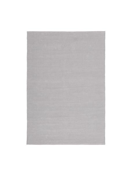 Dünner Baumwollteppich Agneta, handgewebt, 100% Baumwolle, Grau, B 50 x L 80 cm (Größe XXS)