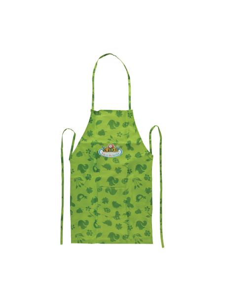 Grembiule per bambini Little Gerdener, Tessuto di lino, Tonalità verdi, Larg. 35 x Alt. 83 cm
