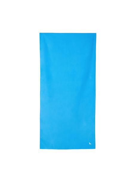 Telo mare in microfibra Classic, ad asciugatura rapida, Microfibra (80% poliestere, 20% poliammide), Blu, Larg. 90 x Lung. 200 cm