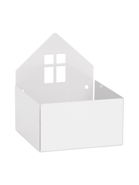 Scatola Town House, Metallo verniciato a polvere, Bianco, Larg. 11 x Alt. 13 cm
