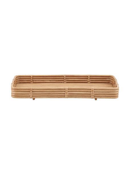 Handgemachtes Rattan-Tablett Orga, B 30 x L 52 cm, Rattan, Rattan, B 52 x T 30 cm