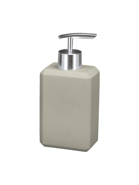 Dispenser sapone in cemento Loft, Testa della pompa: metallo, Grigio, Larg. 8 x Alt. 17 cm