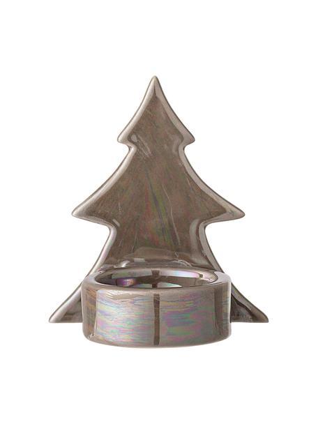 Świecznik na podgrzewacze Mara, Kamionka, Brązowy, S 8 x W 9 cm