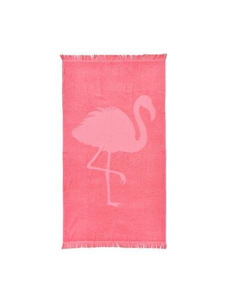 Strandtuch Capri Flamingo, Rosa, 90 x 160 cm