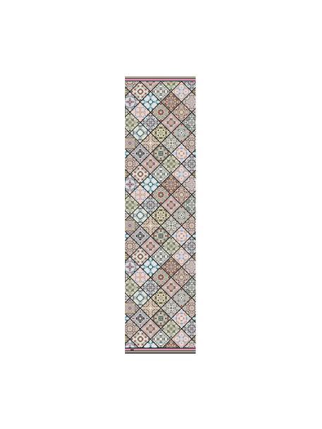 Tappetino antiscivolo in vinile con stampa colorata Aylin, Vinile riciclabile, Multicolore, Larg. 65 x Lung. 255 cm