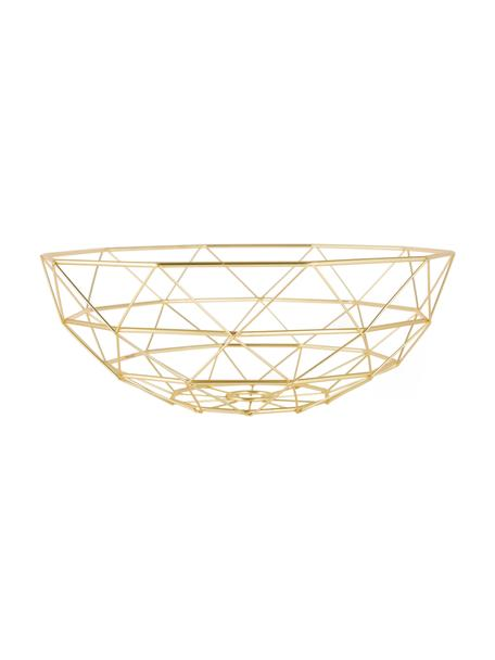 Cesta Diamond Cut, Metal, Dorado, mate, Ø 35 x Al 13 cm
