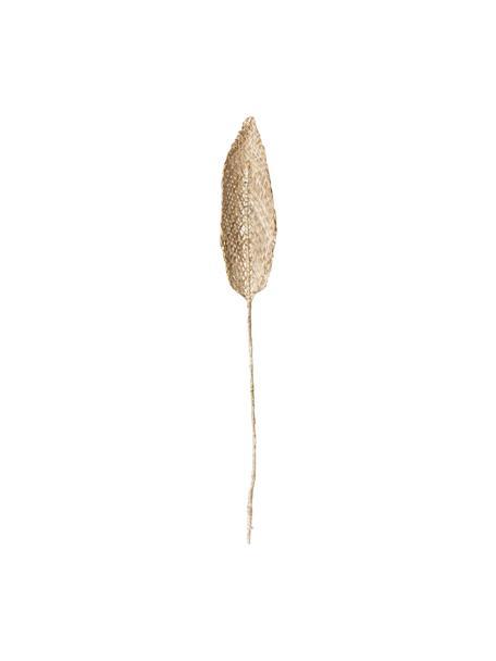Deko-Objekt Planta de Praia, Bananenblätter, geflochten, Beige, 15 x 80 cm