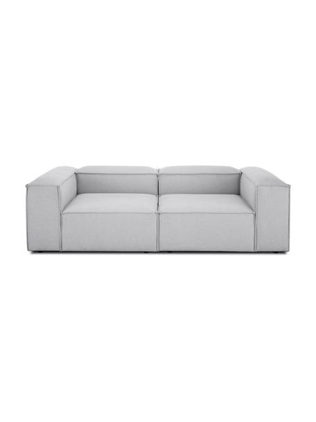 Modulares Sofa Lennon (3-Sitzer) in Hellgrau, Bezug: Polyester Der hochwertige, Gestell: Massives Kiefernholz, Spe, Füße: Kunststoff, Webstoff Hellgrau, B 238 x T 119 cm