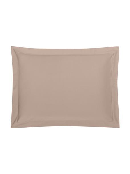 Funda de almohada de satén Premium, Gris pardo, An 50 x L 70 cm