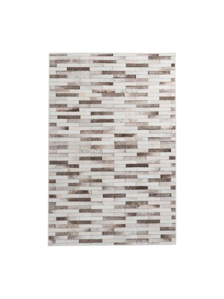 Teppich My Bonanza in Patchwork-Felloptik, Flor: 100% Polyester, Beige- und Brauntöne, B 80 x L 150 cm (Größe XS)