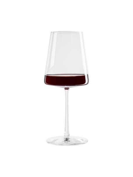 Copas de vino tinto de cristal Power, 6uds., Cristal, Transparente, Ø 9 x Al 23 cm
