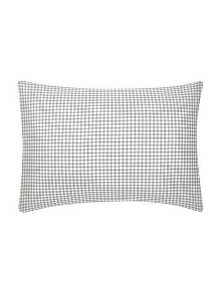 Funda de almohada de algodón Scotty, 100%algodón El algodón da una sensación agradable y suave en la piel, absorbe bien la humedad y es adecuado para personas alérgicas, Gris claro, blanco, An 50 x L 70 cm
