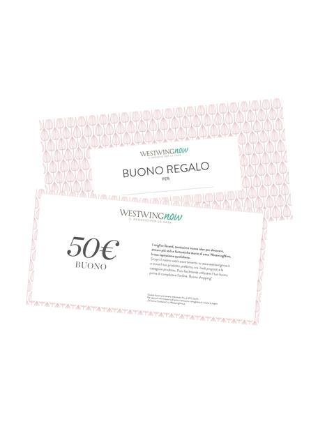 Buono regalo, Buono su carta fine, in una busta di alta qualità, Bianco, 50