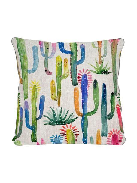 Cojín Cactus, con relleno, Multicolor, An 45 x L 45 cm