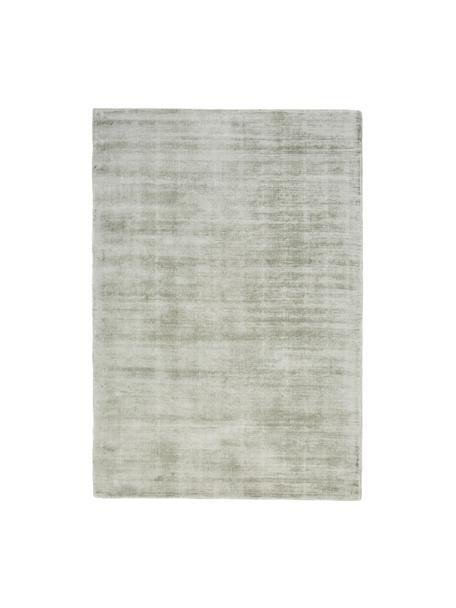Tappeto in viscosa tessuto a mano Jane, Retro: 100% cotone, Verde lime, Larg.160 x Lung. 230 cm (taglia M)
