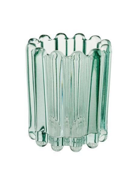 Teelichthalter Nizza, Glas, Türkis, transparent, Ø 10 x H 11 cm