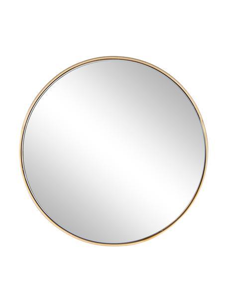 Runder Wandspiegel Nucleos mit Goldrahmen, Rahmen: Metall, beschichtet, Spiegelfläche: Spiegelglas, Messingfarben, Ø 40 cm