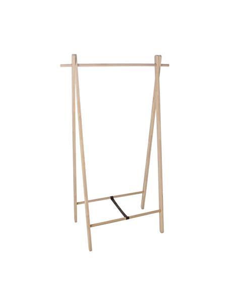 Appendiabiti in legno di rovere Stand, Cinturino: tessuto, Marrone, Larg. 89 x Alt. 151 cm