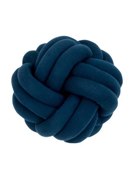 Cuscino blu scuroTwist, Blu scuro, Ø 30 cm
