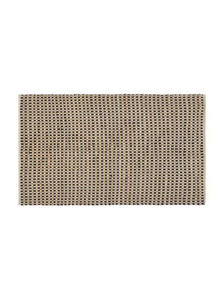 Zerbino in cotone/juta Fiesta, 55% cotone chindi, 45% juta, Nero, beige, Larg. 45 x Lung. 75 cm