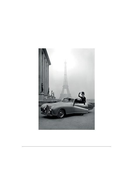 Stampa digitale incorniciata France 1947, Immagine: stampa digitale su carta, Cornice: materiale sintetico (PU), Retro: pannelli di fibre a media, Immagine: nero, bianco Cornice: nero, Larg. 35 x Alt. 45 cm