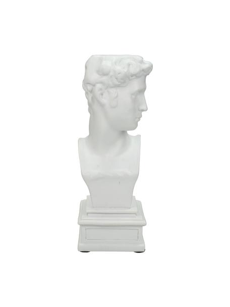 Candelabro David, Poliresina, Blanco, L 9 x Al 22 cm
