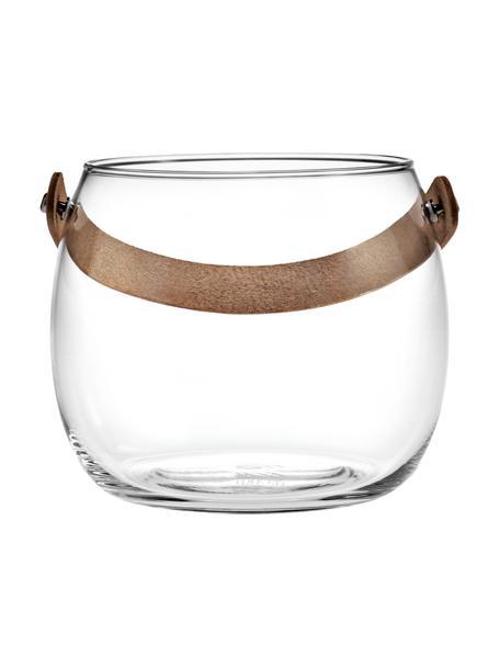 Windlicht Chamber, Vaas: mondgeblazen glas, Transparant, bruin, Ø 16 x H 12 cm