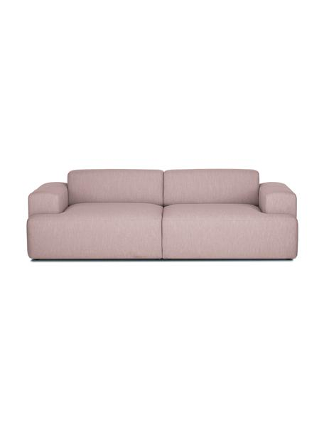 Sofa Melva (3-Sitzer) in Rosa, Bezug: Polyester Der hochwertige, Gestell: Massives Kiefernholz, Spa, Füße: Kiefernholz, Webstoff Rosa, B 240 x T 101 cm