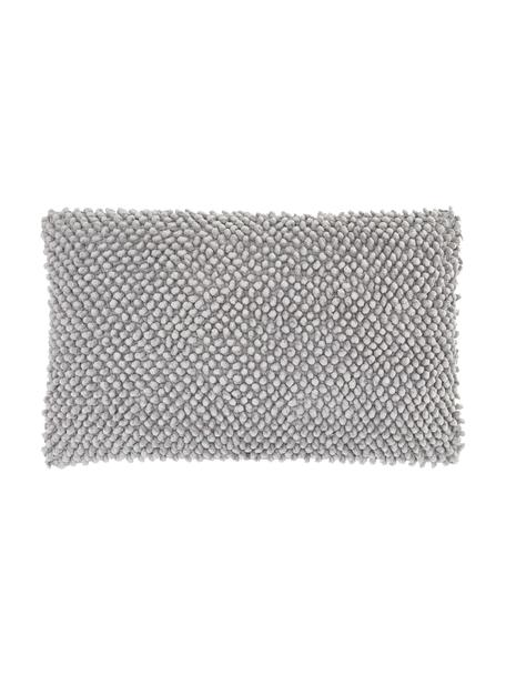Poszewka na poduszkę ze strukturalna powierzchnią Indi, 100% bawełna, Jasny szary, S 30 x D 50 cm
