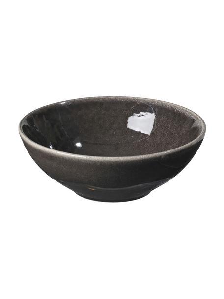 Handgemachtes Schälchen Nordic Coal Ø 17 cm aus Steingut, 4 Stück, Steingut, Bräunlich, Ø 17 x H 6 cm
