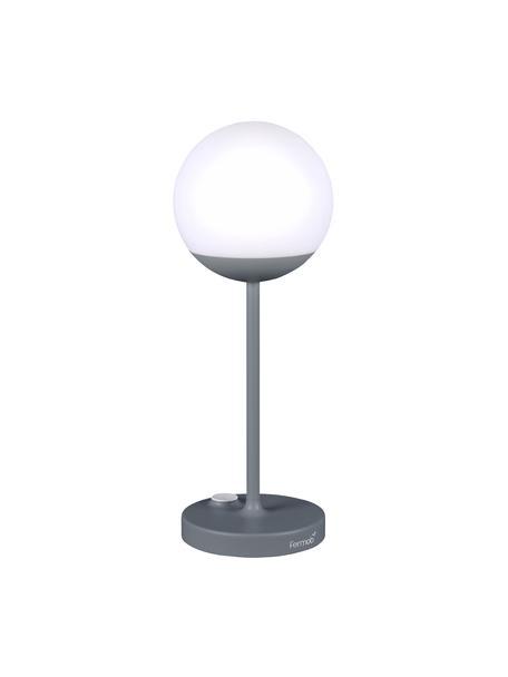 Mobiele outdoor LED lamp Mooon, Lampenkap: kunststof, Stormgrijs, Ø 15 x H 41 cm