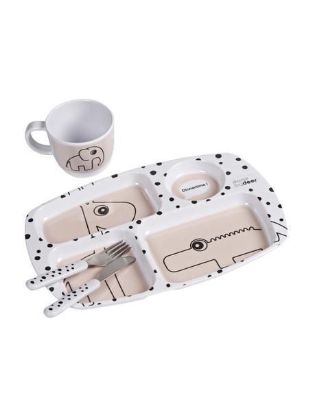 Geschirr-Set Happy Dots, 4-tlg., Rosa, Set mit verschiedenen Größen