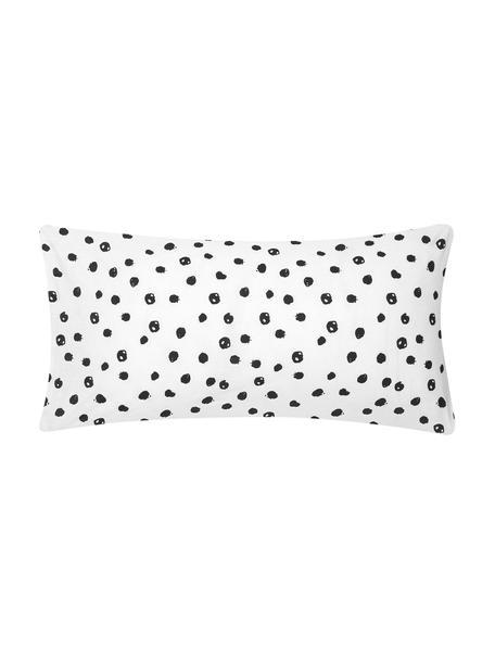 Poszewka na poduszkę z bawełny Jana, 2 szt., Biały, czarny, S 40 x D 80 cm