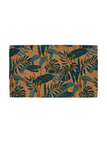 Zerbino con stampa tropicale Pamchik, Retro: PCV, Beige, verde, Larg. 43 x Lung. 73 cm