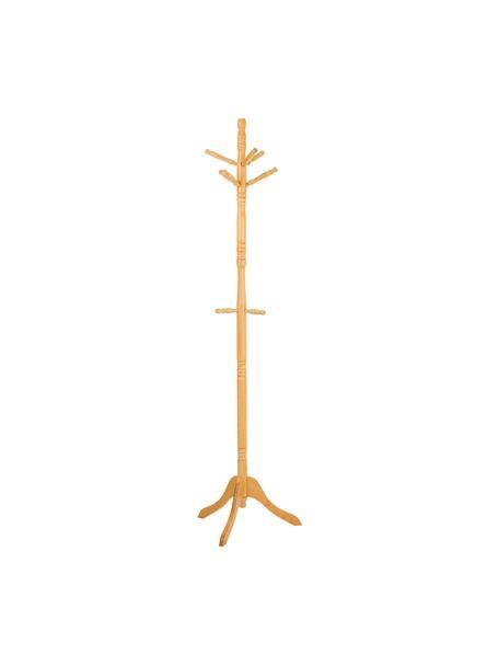 Perchero de pie Ole, Estructura: madera de abedul, Miel, Ø 44 x Al 184 cm