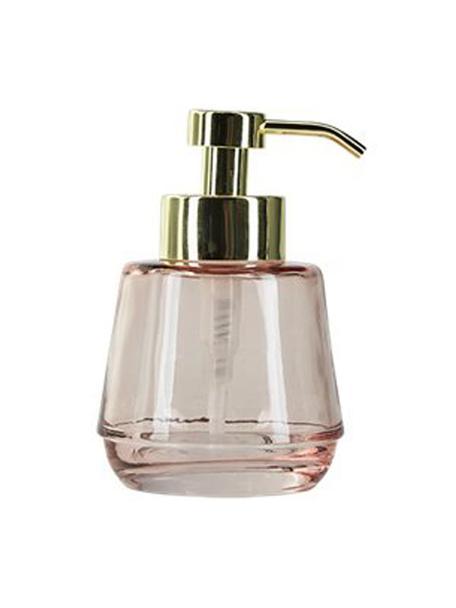 Seifenspender Lushi, Behälter: Glas, Rosa, transparent, Ø 7 x H 15 cm